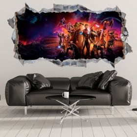 Decorative vinyl 3d the avengers endgame