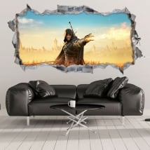 Decorative vinyl 3d fantasy witcher