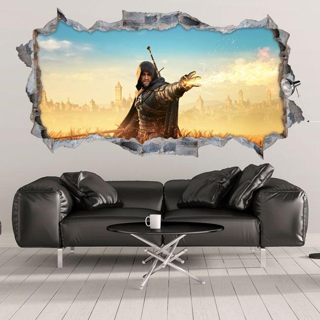 Decorative vinyl 3d fantasy witcher