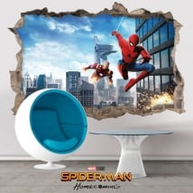 Vinyl and stickers spiderman homecoming 3d
