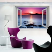 Decorative vinyl 3d sunrise colors