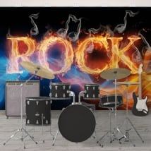 Vinyl wall murals rock and roll