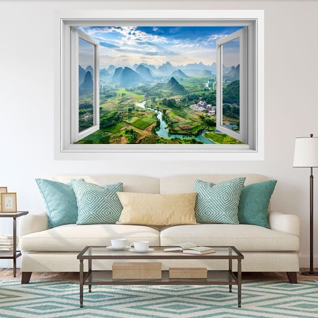 Wall stickers windows city guilin china 3d
