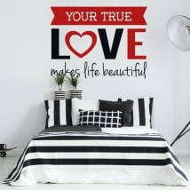 Vinyl walls romantic phrase true love