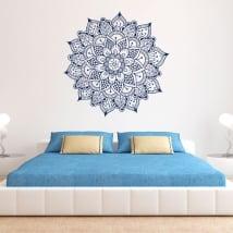 Adhesive vinyl mandala wall