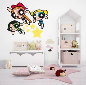 Wall stickers supernets or powerpuff girls