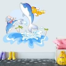 Vinyl stickers dolphins children's fun