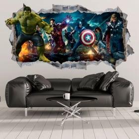 Decorative vinyl and 3d hulk stickers