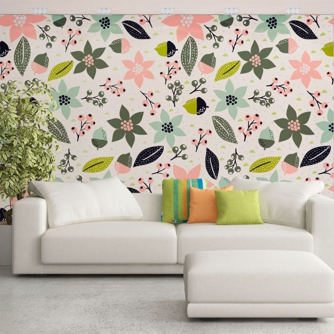Wall murals vinyl flowers to decorate