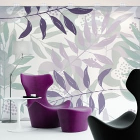 Wall murals flowers to decorate walls and objects