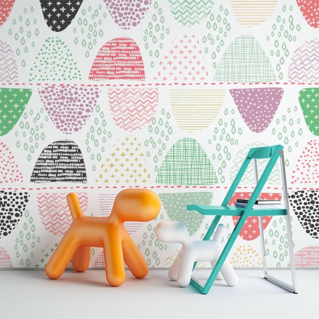 Vinyl wall murals geometric forms