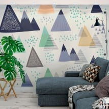 Wall mural triangles nordic decoration