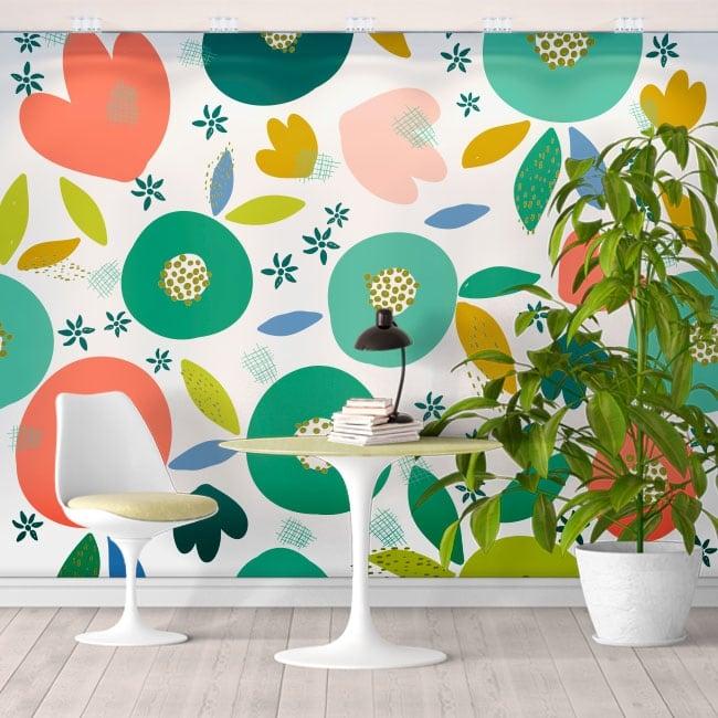 Vinyl wall murals tropical colors