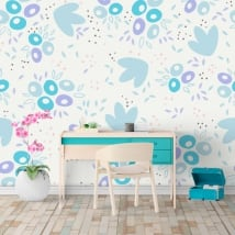 Vinyl wall murals abstract shapes