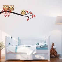Baby vinyls tree branch with children's owls