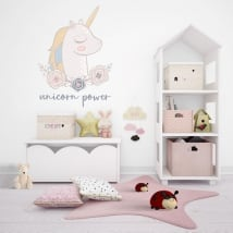 Stickers and vinyl decorative unicorn power