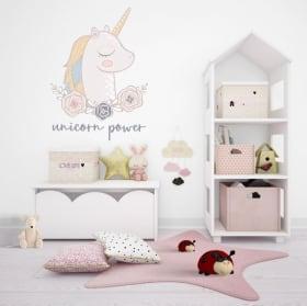 Stickers and vinyl decorative unicorn power