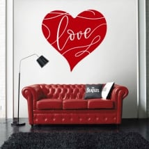 Decorative vinyl heart love