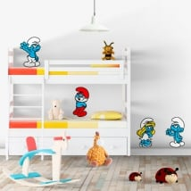 Decorative vinyl and stickers the smurfs