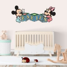 Vinyl walls disney mickey and minnie babies