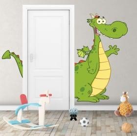 Children's decorative vinyl dragon for doors