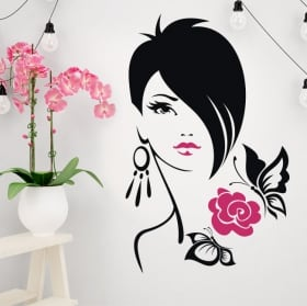 Decorative vinyl silhouette woman handkerchief