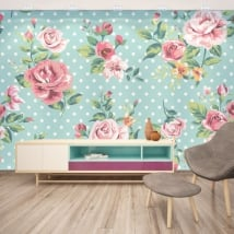 Mural adhesives with flowers to decorate