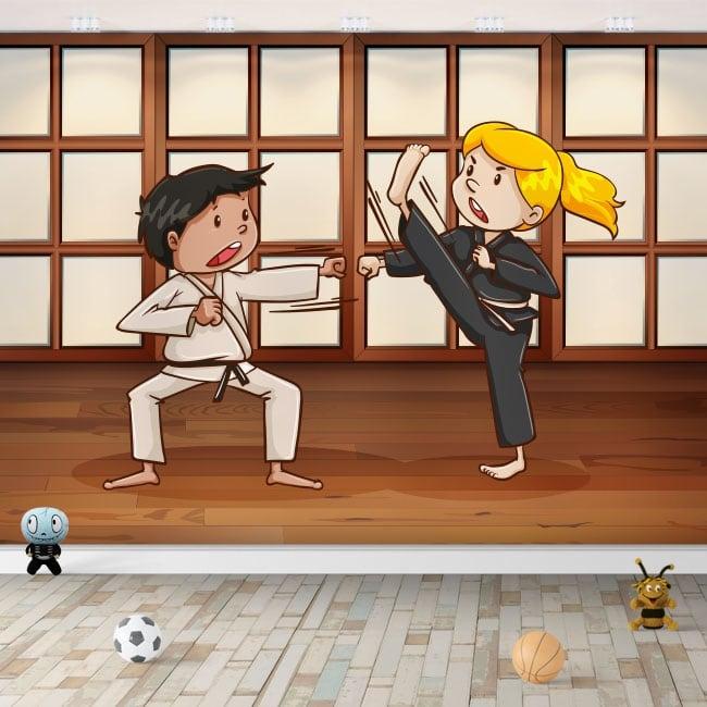 Stickers and children's vinyl martial arts karate