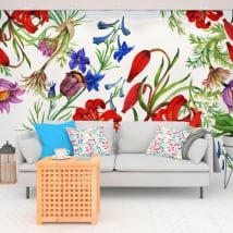 Vinyl murals with flowers