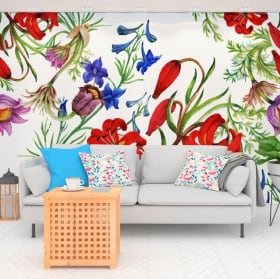Murals flowers to decorate