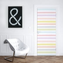 Vinyl for doors colored stripes