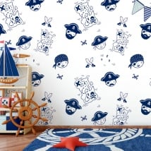Wall murals for children or youth pirates of the caribbean
