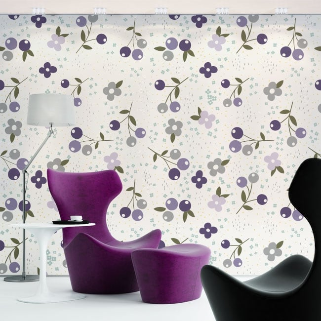 Vinyl wall murals with flowers