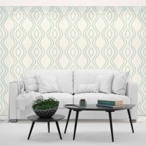 Vinyl wall murals retro style lines
