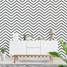 Vinyl wall murals lines or zigzag strokes