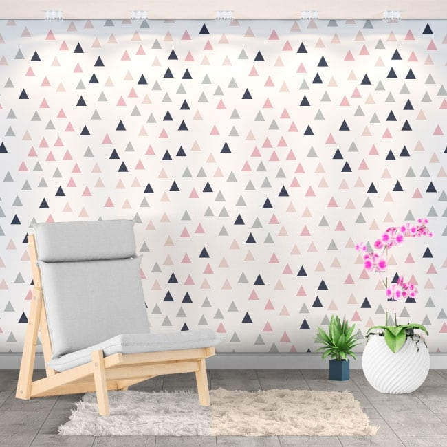 Vinyl wall murals colored triangles