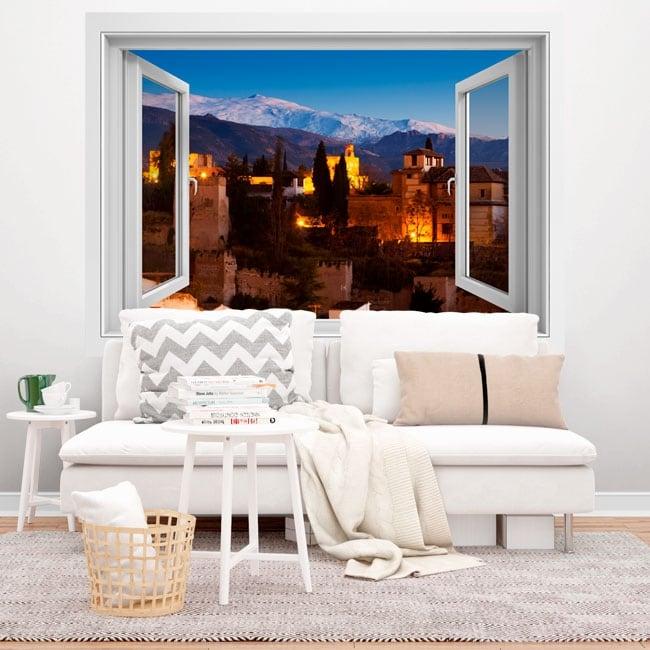 Vinyle décoratif alhambra 3d