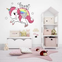 Vinyl and children's stickers unicorn magic