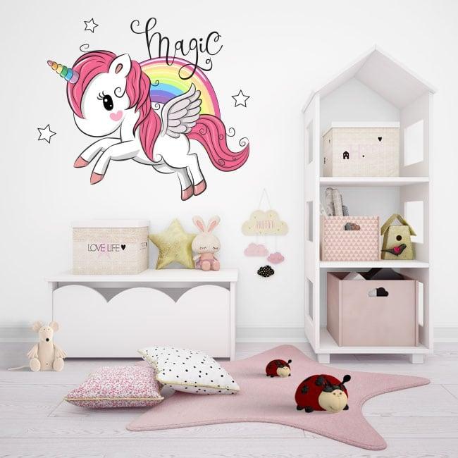 Vinyl and children's stickers unicorn magic