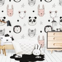 Vinyl wall murals animals and stars