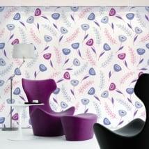 Vinyl wall murals violet flowers