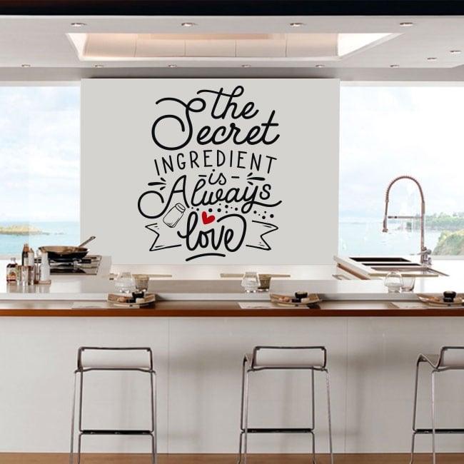 Decorative stickers english phrases the secret ingredient