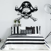 Decorative vinyl and stickers pirate skull