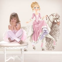 Children's decorative vinyl princess and horse