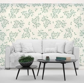 Wall murals of adhesive vinyl with flowers