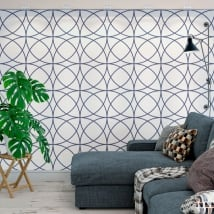 Wall murals of adhesive vinyl with circles