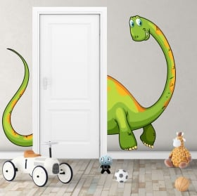 Children's dinosaur decorative vinyl for doors