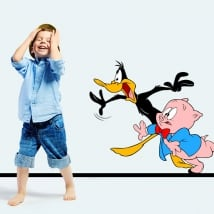 Vinyl and stickers kids duck lucas and porky