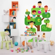 Vinyl and stickers for children the tree of knowledge