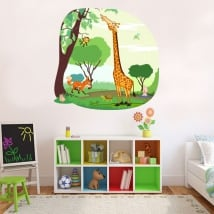Vinyl and stickers for children jungle animals